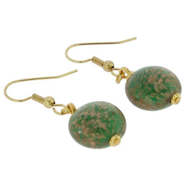 Starlight Disk Earrings - Emerald