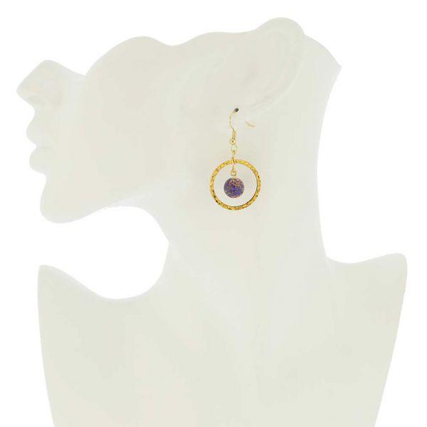 Sommerso Venetian Circle Earrings- Blue