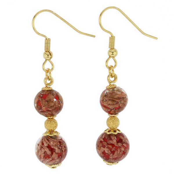 Laguna Murano Earrings - Red