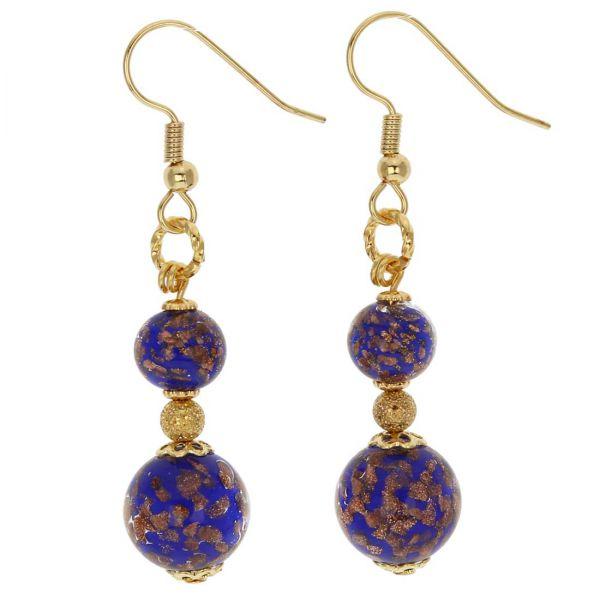 Laguna Murano Earrings - Blue