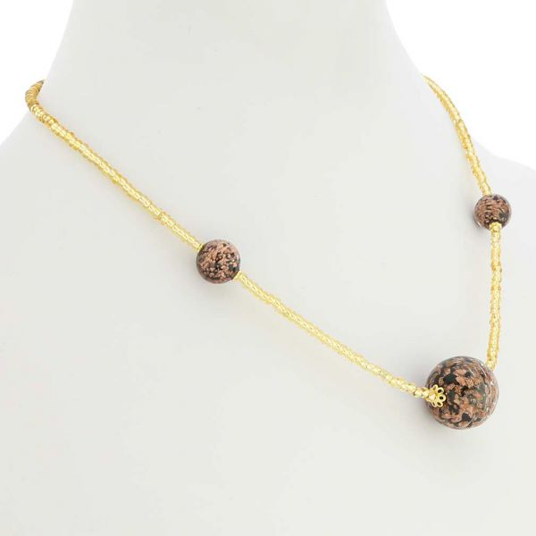 Starlight Balls Necklace - Black