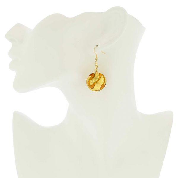 Royal Cognac Circle Earrings