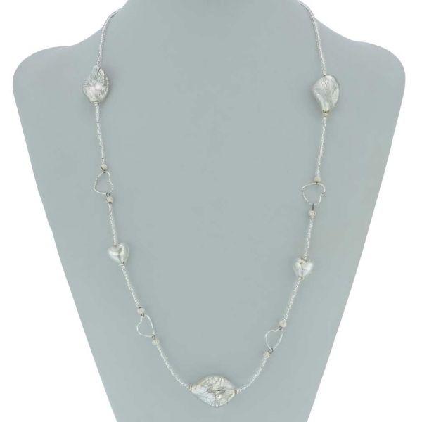 Venetian Wedding Heart Murano Necklace