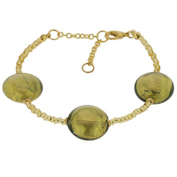 Royal Murano Bracelet - Olive Green