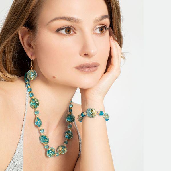 Ca D\'Oro Murano Bracelet - Aqua