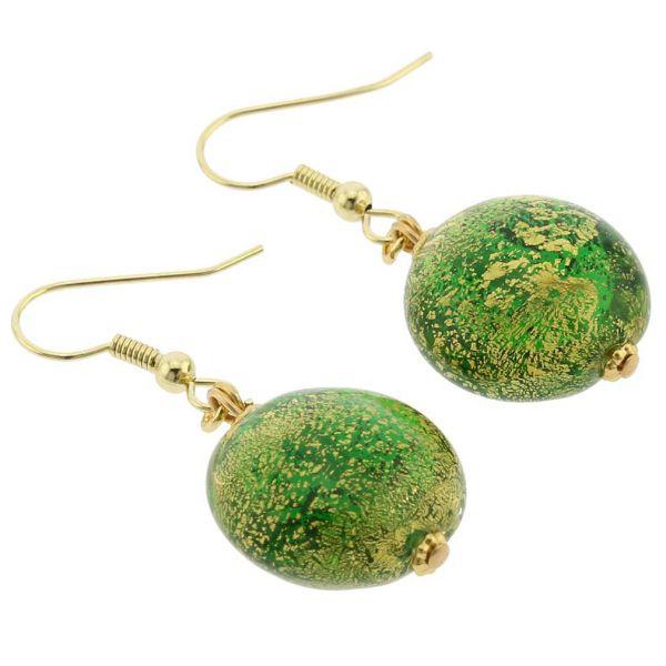 Ca D\'Oro Earrings - Emerald Green