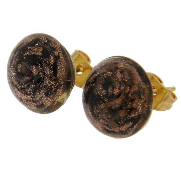 Starlight Small Stud Earrings - Black