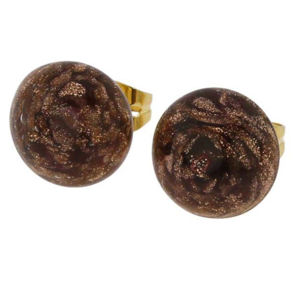 Starlight Small Stud Earrings - Purple