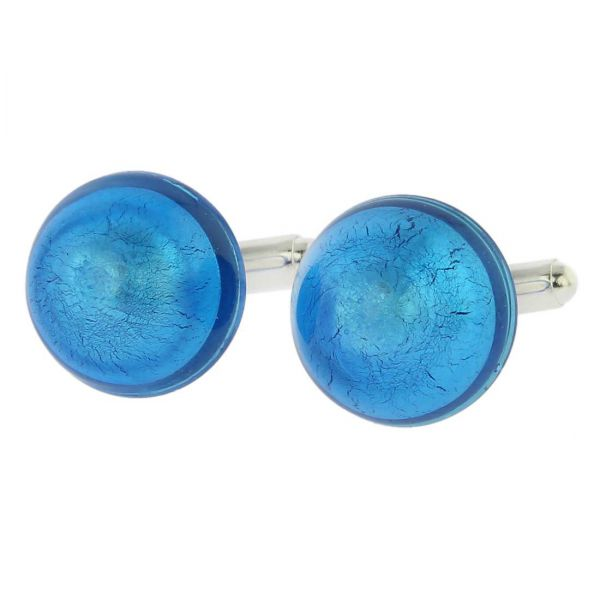Venetian Dream Cufflinks - Aqua Blue