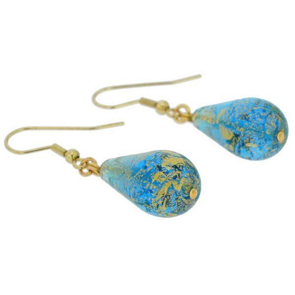 Ca D\'Oro Teardrop Earrings - Aqua