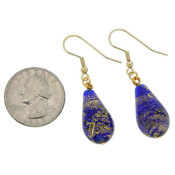 Ca D\'Oro Drop Earrings - Cobalt Blue
