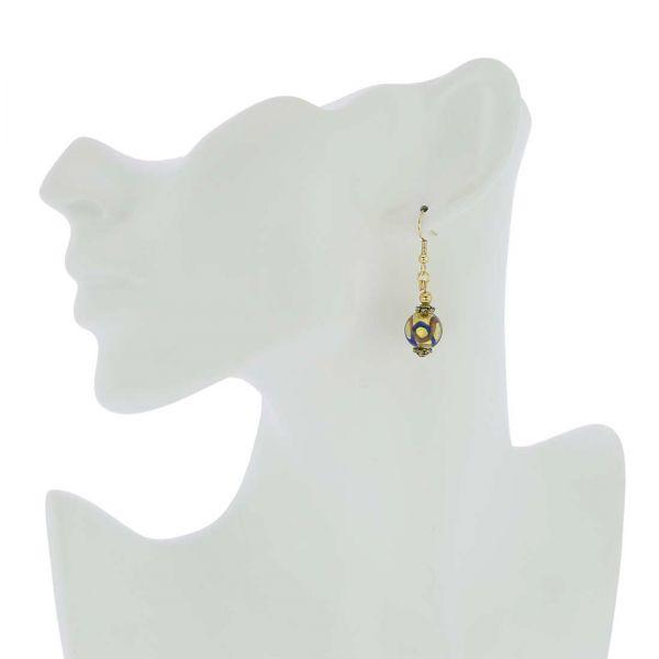 Antico Tesoro Balls Earrings - Blue Waves Gold