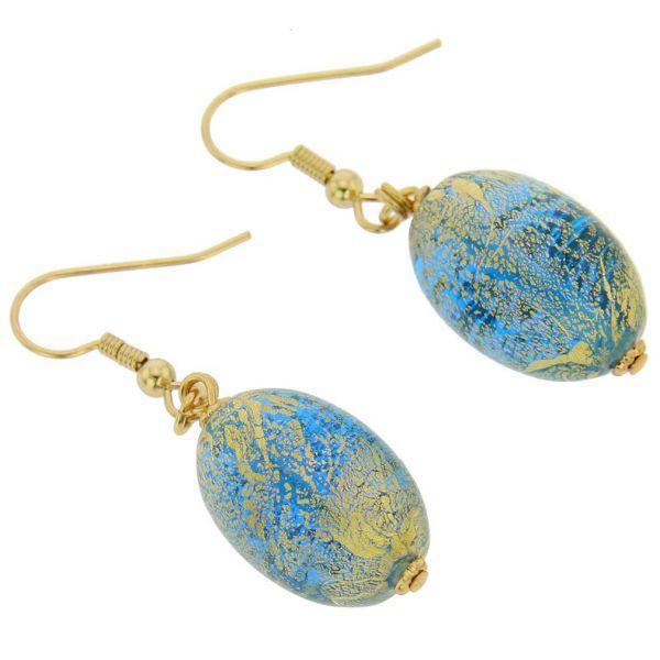 Ca D\'Oro Olives Earrings - Aqua