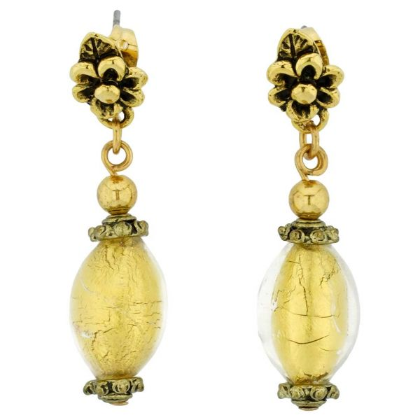 Antico Tesoro Olives Earrings - Liquid Gold