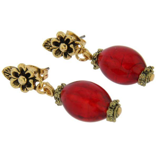 Antico Tesoro Olives Earrings - Red