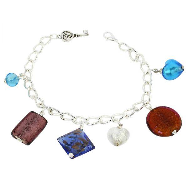 Venetian Charms Bracelet - Silver