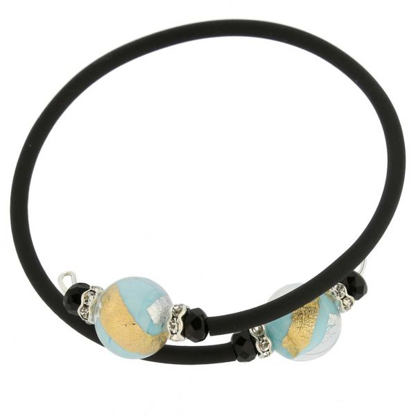 Venetian Glamour Bracelet - Turquoise Gold and Silver