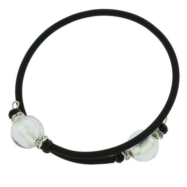 Venetian Glamour Bracelet - Silver White