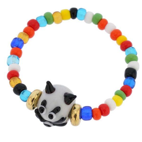 Murano Glass Kitty Cat Children\'s Bracelet