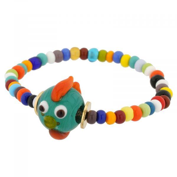Murano Glass Tiny Fish Children\'s Bracelet