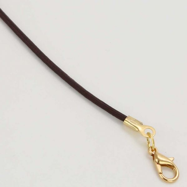 Genuine Cowhide Leather Cord - Chocolate Brown
