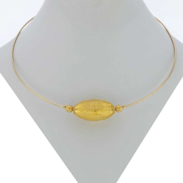 Yellow Gold Ca D\'oro Choker Necklace