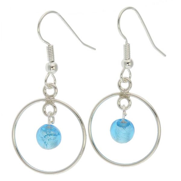 Drop Of Rain Murano Dangle Earrings