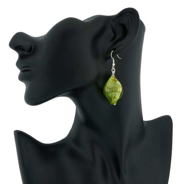 Isola Bella Murano Earrings - Green