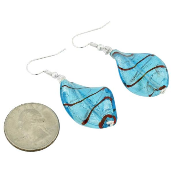 Isola Bella Murano Earrings - Aqua