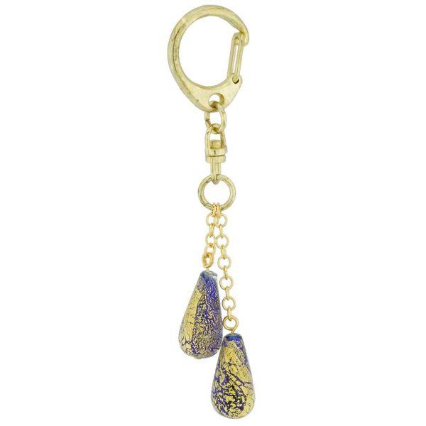 Ca D\'Oro Murano Keychain - Blue