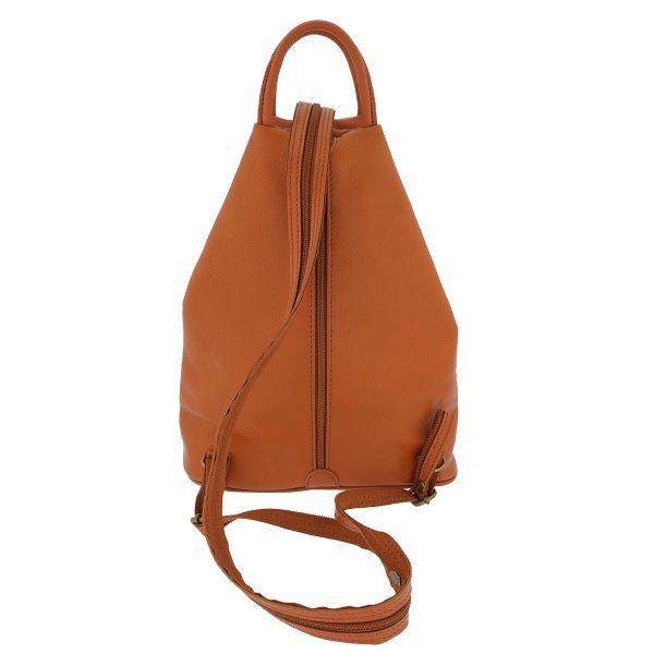 Fioretta Italian Genuine Leather Top Handle Backpack Purse Shoulder Bag Handbag Rucksack For Women - Light Brown