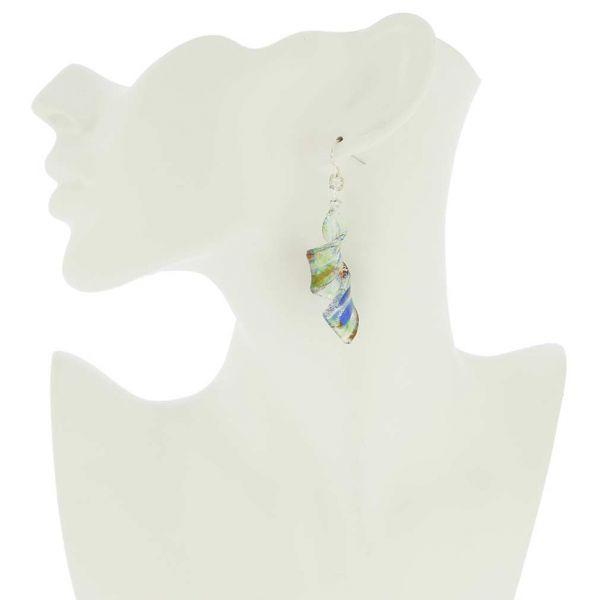 Kaleidoscope Spiral Earrings