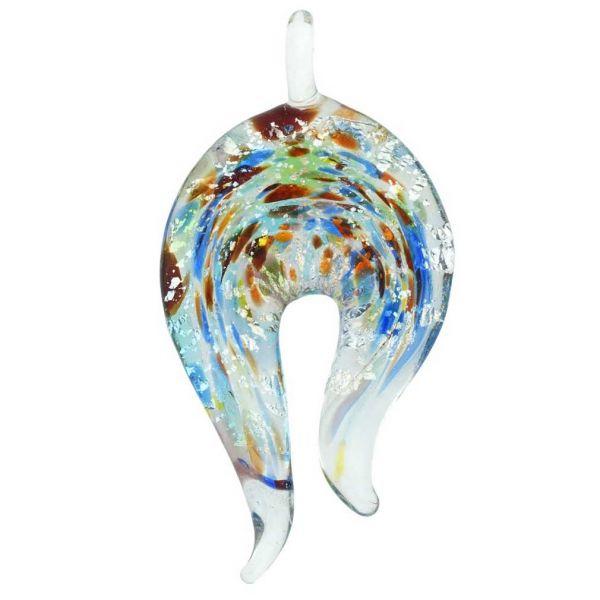 Kaleidoscope Horseshoe Pendant