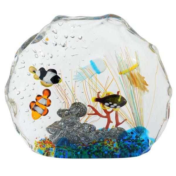 Murano Glass Aquarium Bag With Tropical Fish