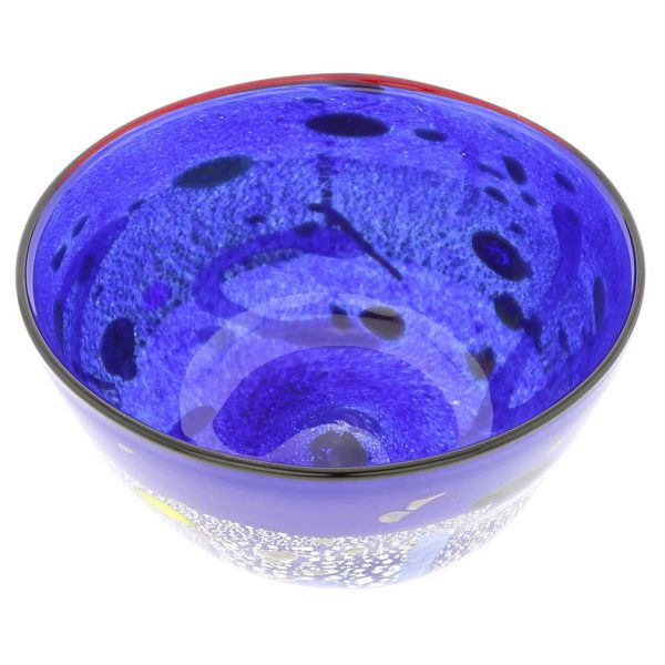 Modern Art Murano Glass Bowl - Blue