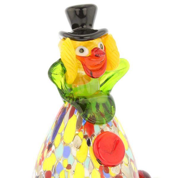 Murano Glass Clown - Oval
