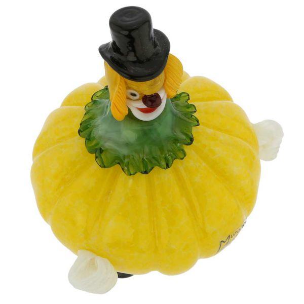 Murano Glass Clown - Pumpkin