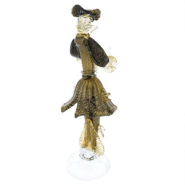 Venetian Goldonian Gentleman - Black and Gold