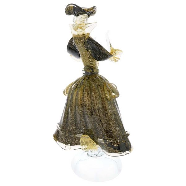 Venetian Goldonian Lady - Black and Gold