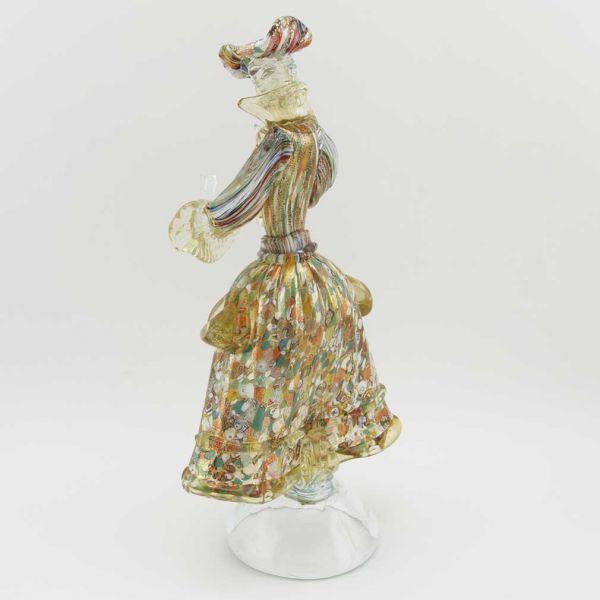 Venetian Goldonian Lady - Millefiori and Gold