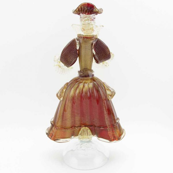 Venetian Goldonian Lady - Red and Gold
