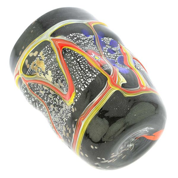 Modern Art Murano Glass Tumbler - Black