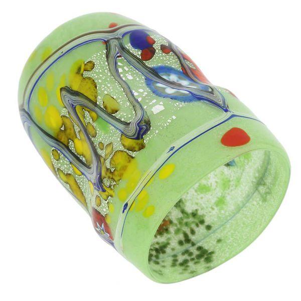 Modern Art Murano Glass Tumbler - Green