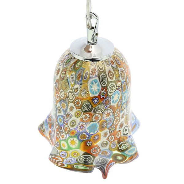 Murano Glass Fazzoletto Pendant Light - Millefiori
