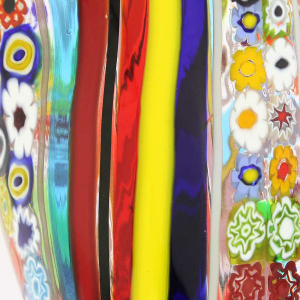 Murano Glass Primavera Millefiori Vase