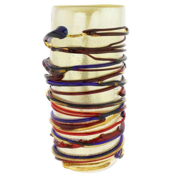 Murano Glass Vesuvio Abstract Art Tall Vase