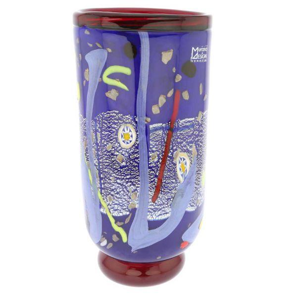 Modern Art Murano Glass Vase - Blue