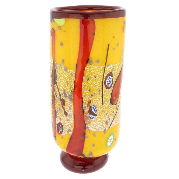 Modern Art Murano Glass Vase - Yellow