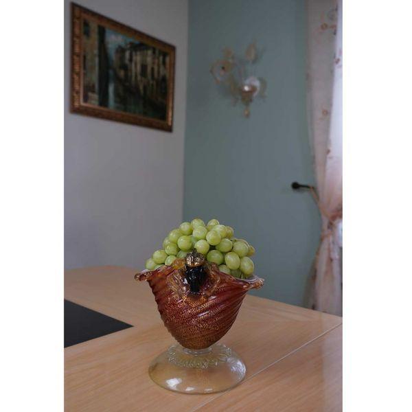 Venetian Moor Murano Glass Bowl Vase