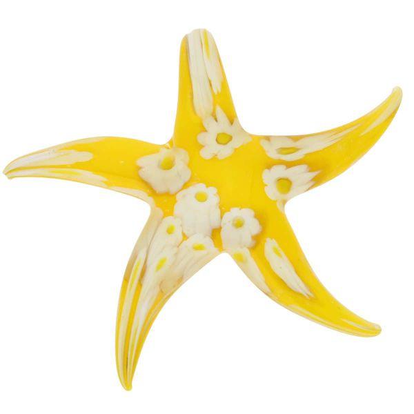 Yellow Daisy Starfish Pendant
